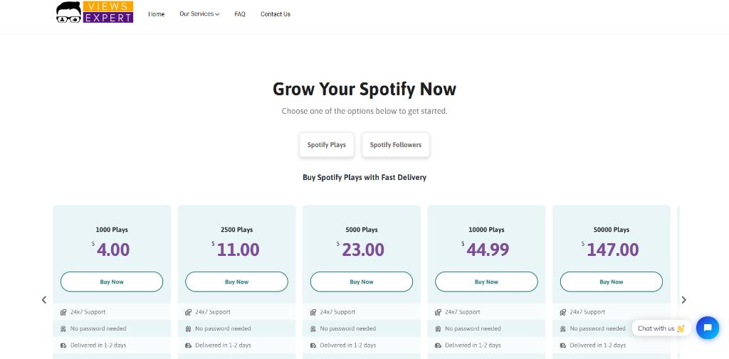 ViewsExpert Spotify Plays