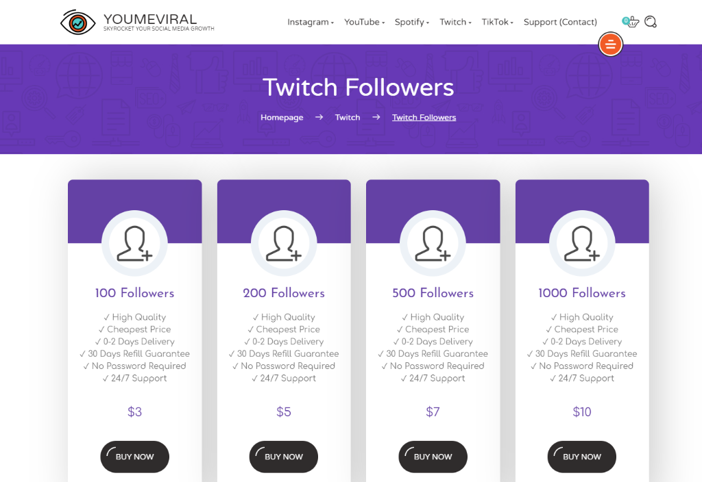 YouMeViral Twitch Followers