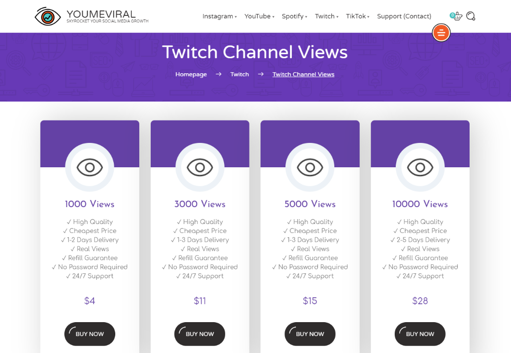YouMeViral Twitch Viewers