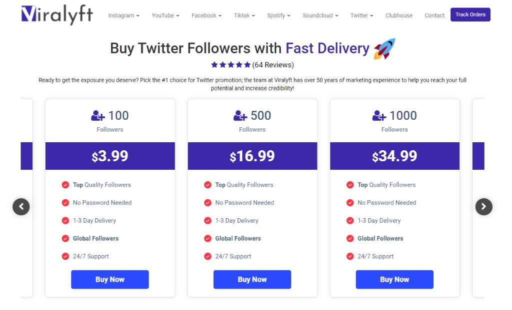 Viralyft Twitter Followers